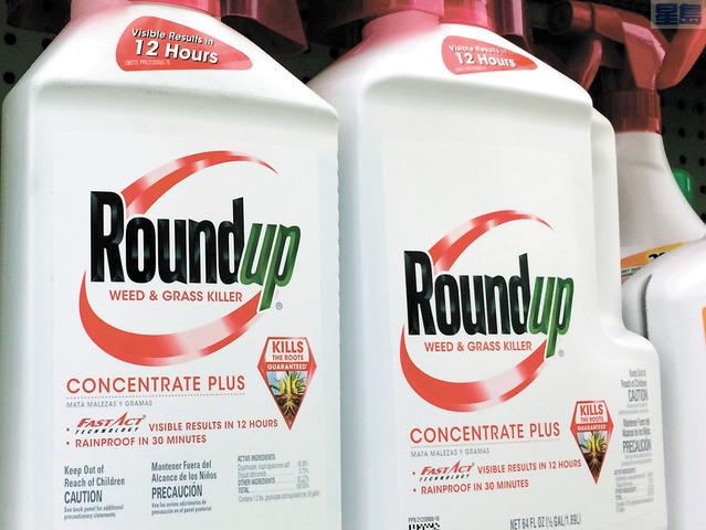 Roundup除草劑。美聯社資料圖片