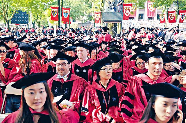 ■哈佛畢業生的綜合能力一向受到主流社會的認同。 法新社資料圖片