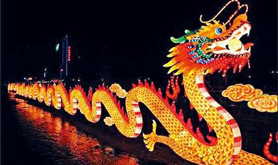 彩燈嘉年華現場將展出多個具有中國元素的大型彩燈。   資料圖片