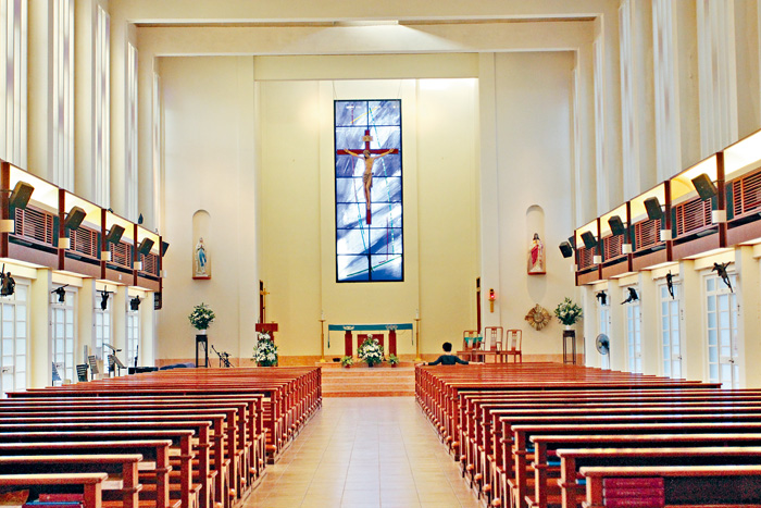 ■ 藍潔瑛 生前 受洗 的 赤柱 天主教 聖亞納 堂, 周五 晚 將 為其 舉行 追思 彌撒.