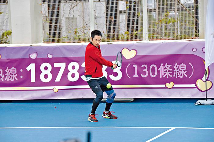 ■嘉穎打網球真的有姿勢有實際。