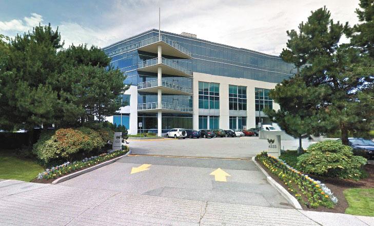 華為位於本拿比的辦事處。 Google Map