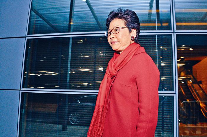 林鄭月娥表示,鄭若驊與梁振英沒有利益衝突,沒有偏頗性影響決定。盧江球攝
