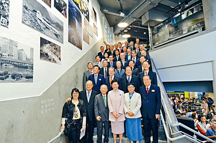 香港新聞博覽館五日開幕,逾二百名來自新聞界、學術教育界、政界及商界等嘉賓出席。蘇正謙攝