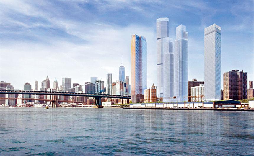 兩橋地區計畫興建的高樓圖。