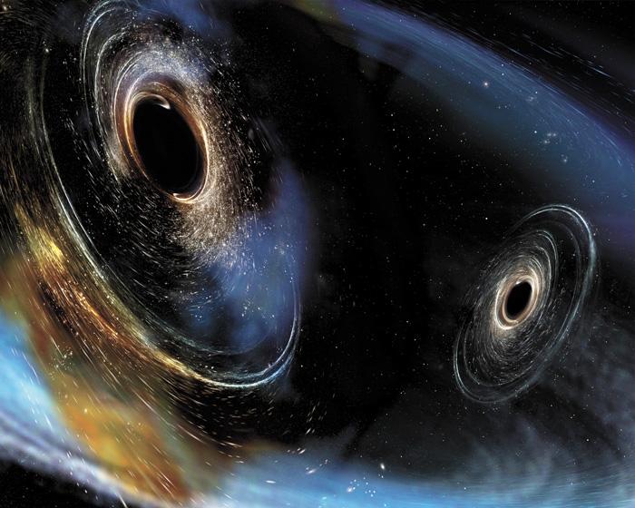 激光干涉儀重力波觀測站此前探測的重力波,由兩個質量分別為太陽質量的19和31倍之黑洞合併而產生。資料圖片