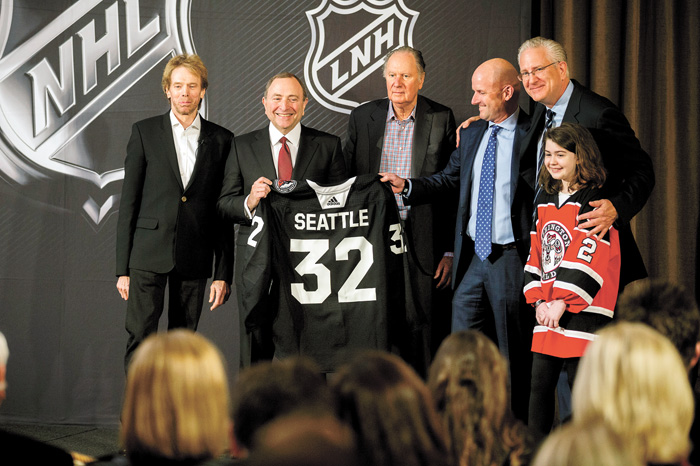 NHL第32支球隊,將來自西雅圖。美聯社