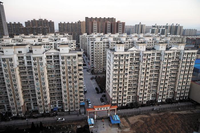 圖為河北燕郊鎮的密集住宅小區。中新社資料圖片