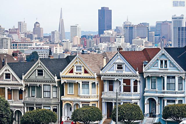 ■過去10年東、西岸的樓市波動厲害,三藩市(圖)的房價仍然較高。    法新社資料圖片