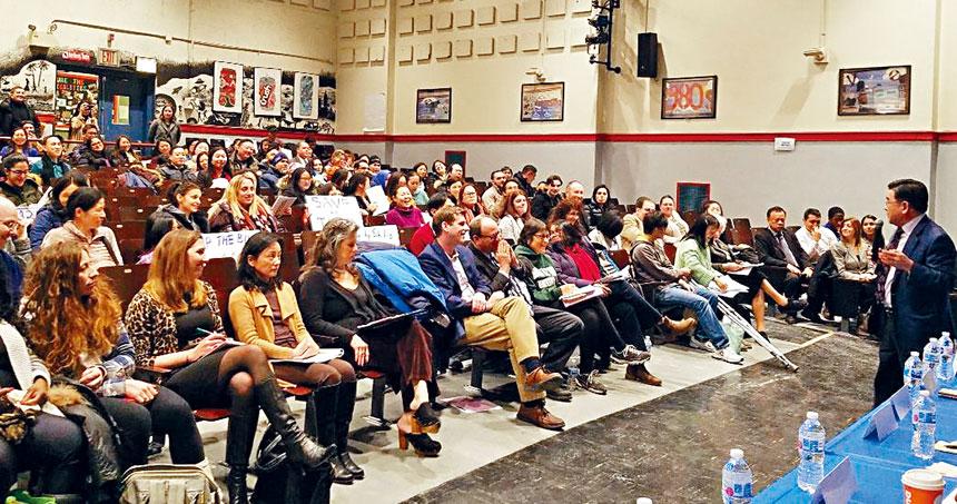 顧雅明指責市長白思豪為了提升知名度,把教育政治化,若沒有考試作為入學界線,結果只會把優良的教育制度摧毀。