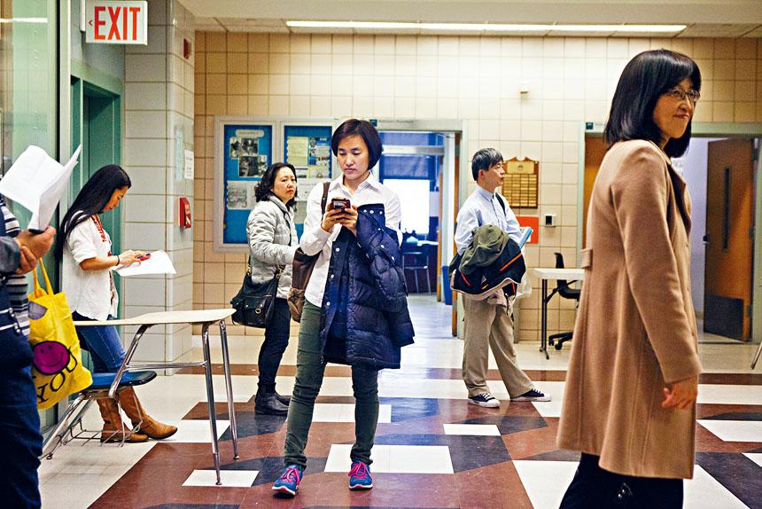 特殊高中入學試一直備受爭議,圖為以亞裔學生佔多數的史蒂文生高中(Stuyvesant High School)。Sam Hodgson/紐約時報