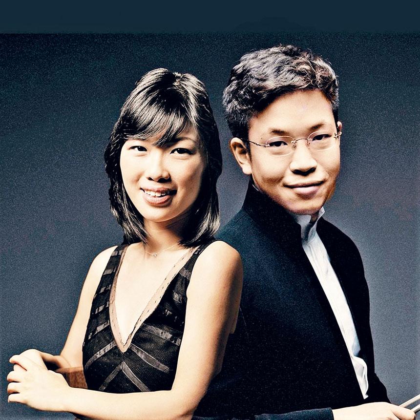 (左起)青年音樂家黃海倫、黃俊文。 主辦方提供