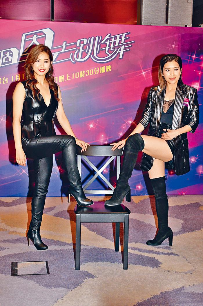 ■黃智雯(右)請來好姊妹趙希洛,出席真人騷記者會。