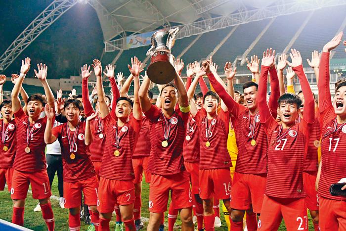 港隊衛冕省港盃,更締造賽事史上最大勝仗。郭晉朗攝