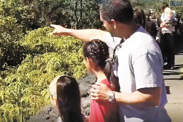 很多夏威夷州國家公園的支持者們努力為維持公園的開放尋找對策。Hawaii News Now電視截圖