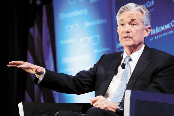 美聯儲主席鮑威爾表示對加息將保持耐心,並否認美國有衰退風險。法新社
