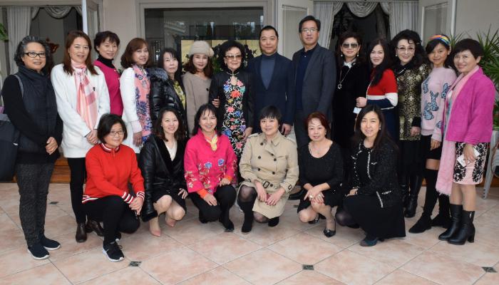 巾幗會2月15日舉辦新春聚會。錢美臻攝