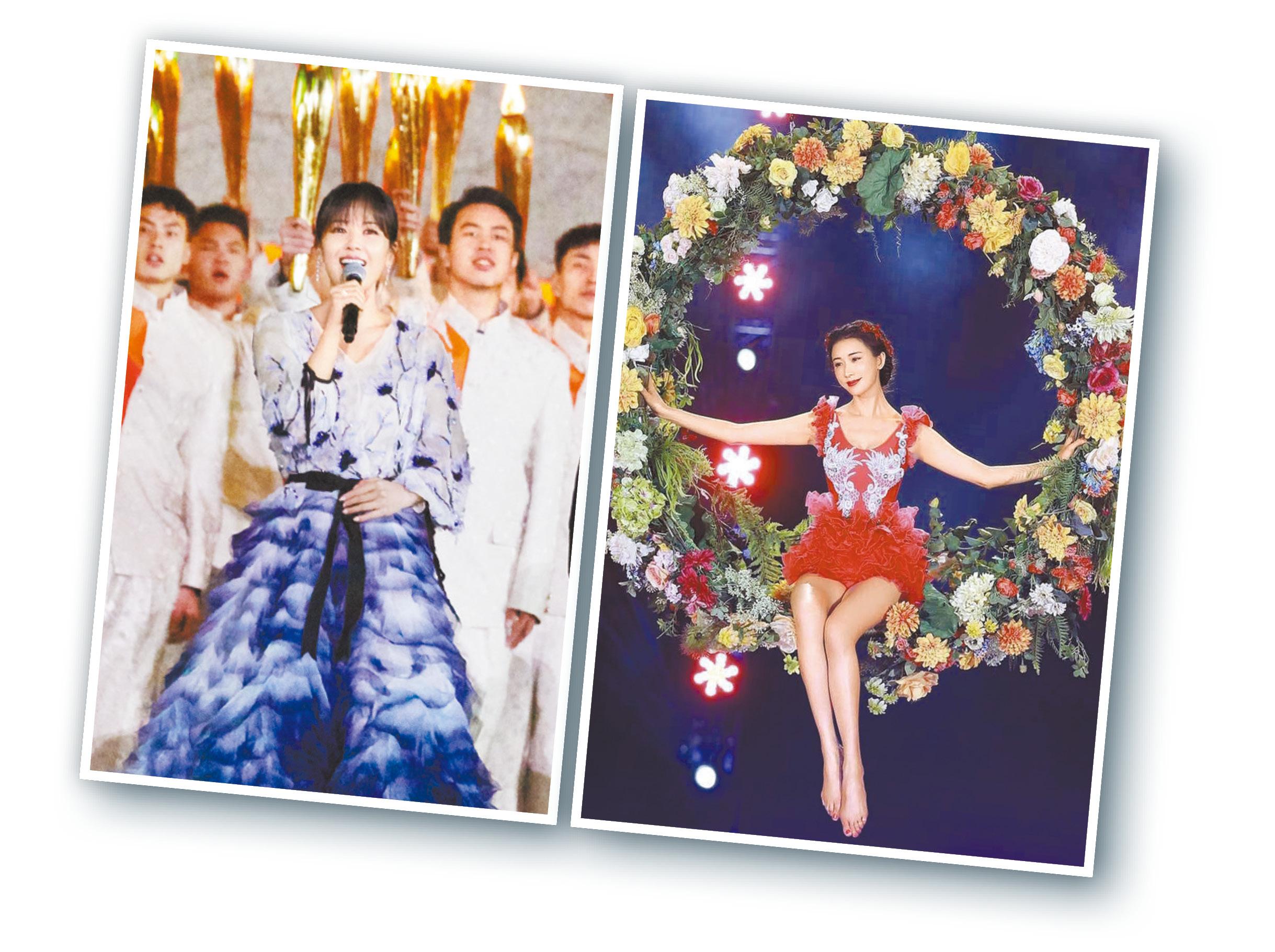 劉濤(左)與林志玲(右)獲讚美麗動人。網上圖片