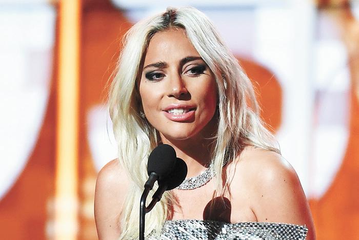 Lady Gaga獲得最佳流行歌手等多個獎項。法新社