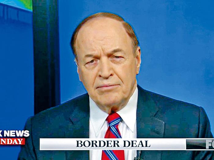 ■領導共和黨談判小組的參議員謝爾比在電視節目上表示,和民主黨人在有關ICE國內執法的問題上產生分歧,談判陷入僵局。    電視截圖