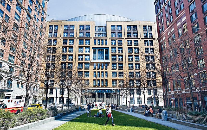 紐約市的特殊高中以亞裔學生佔比最多;圖史蒂文生高中(Stuyvesant High School)。Sara Krulwich/紐約時報