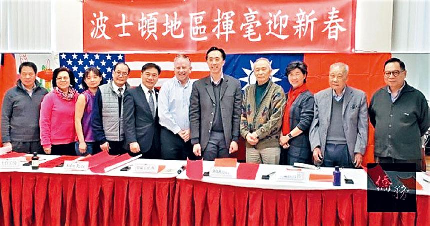 (左四起)林卓培、歐宏偉、萊斯、徐佑典、蔣宗壬等合影。主辦方提供