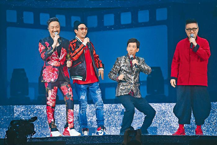 ■鄭中基請來張達明、谷德昭與李璨琛做尾場嘉賓,更即場宣布即將開拍《龍咁威3》。