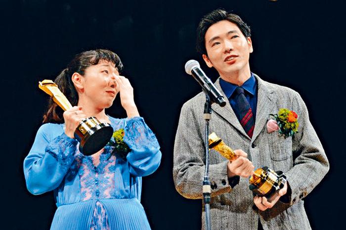 ■安藤櫻與丈夫柄本佑齊齊封影帝影后,她高興得爆喊。