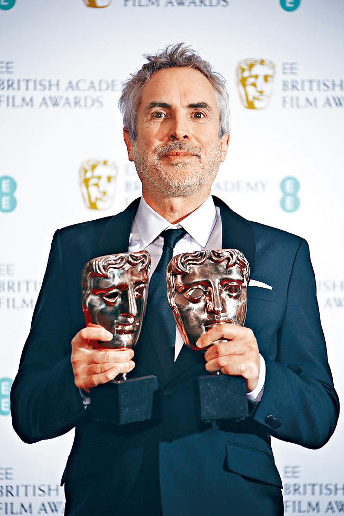 ■阿方素卡朗憑《羅馬》奪得最佳導演及最佳電影兩大獎項。