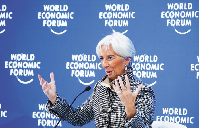 拉加德警告全球,稱「經濟風暴」可能來襲。資料圖片