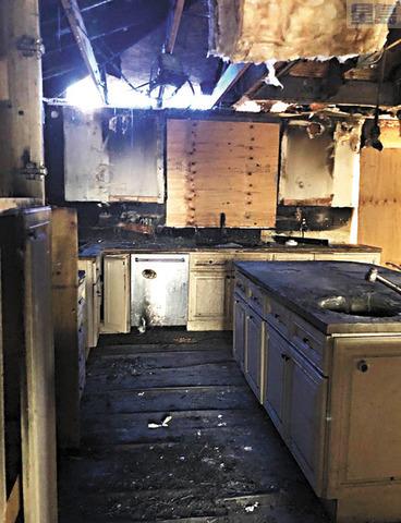 物業廚房被燒毀。   Debiie Lamica提供