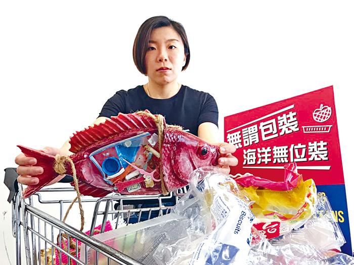 ■綠色和平項目主任陳可淳建議政府與企業,盡快改革及解決「塑膠圍港」。