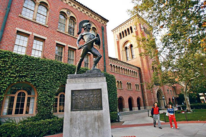 ■南加州大學也是涉案的八所大學之一。圖為南加大校園。    資料圖片