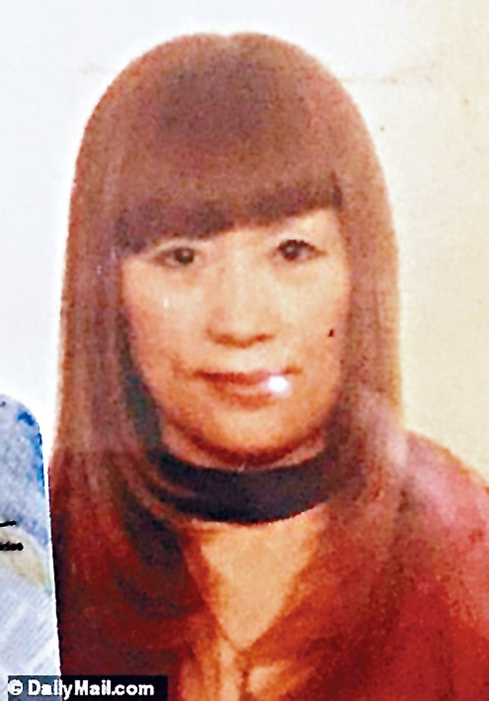 ■涉嫌為克拉夫特提供性服務的華裔女按摩師紅髮女子沈明碧。    每日郵報圖片