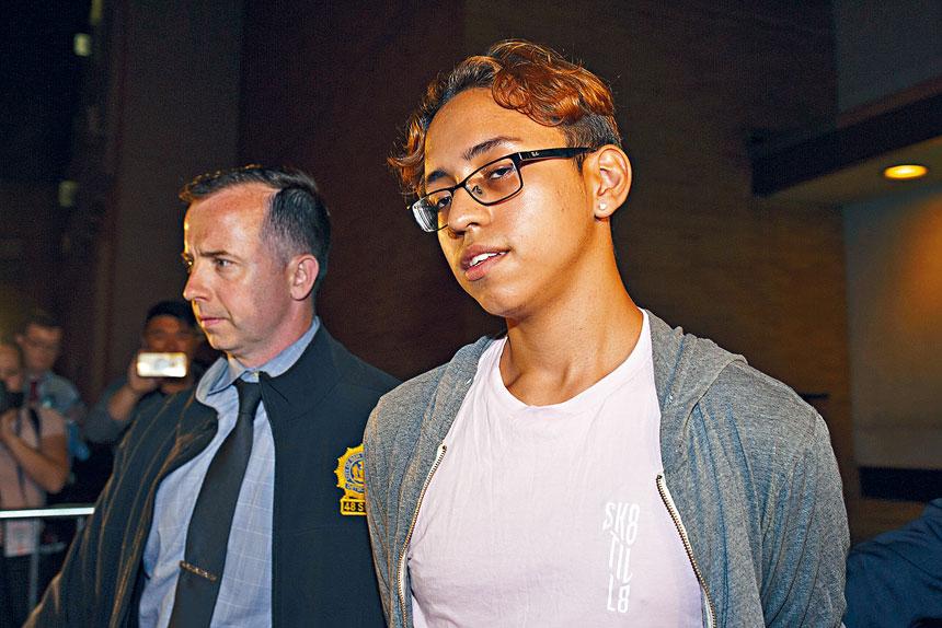 塞迪耶於2017年在課室刺死及刺傷同學。Gregg Vigliotti/紐約時報