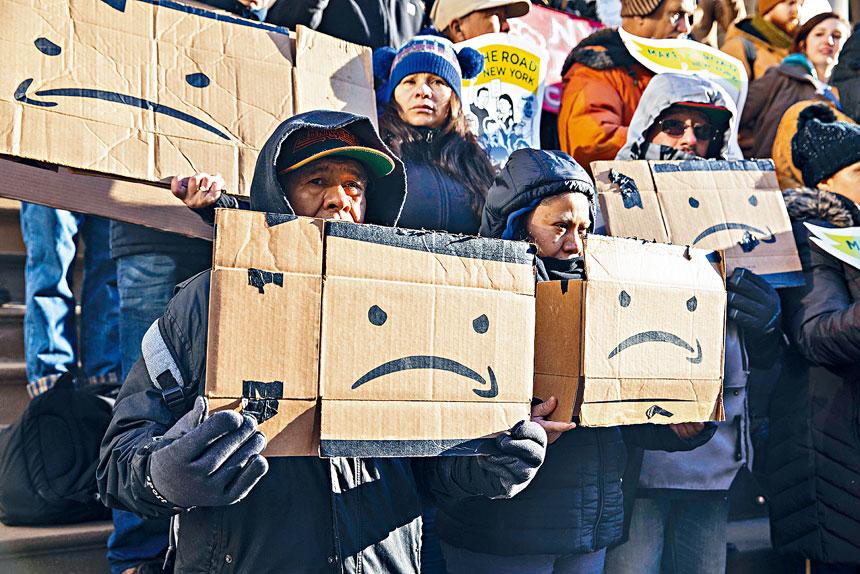 亞馬遜的第二總部計劃,在一片反對聲中告吹。Hiroko Masuike/紐約時報