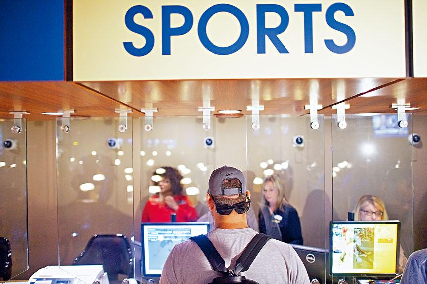 體育博彩成為新州賭業的增長引擎。 Mark Makela/紐約時報
