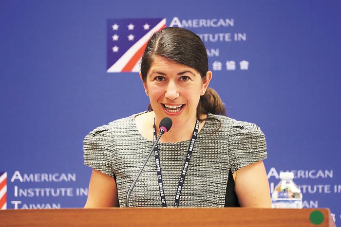 美國在台協會(AIT)發言人孟雨荷(Amanda Mansour)。中央社資料圖片