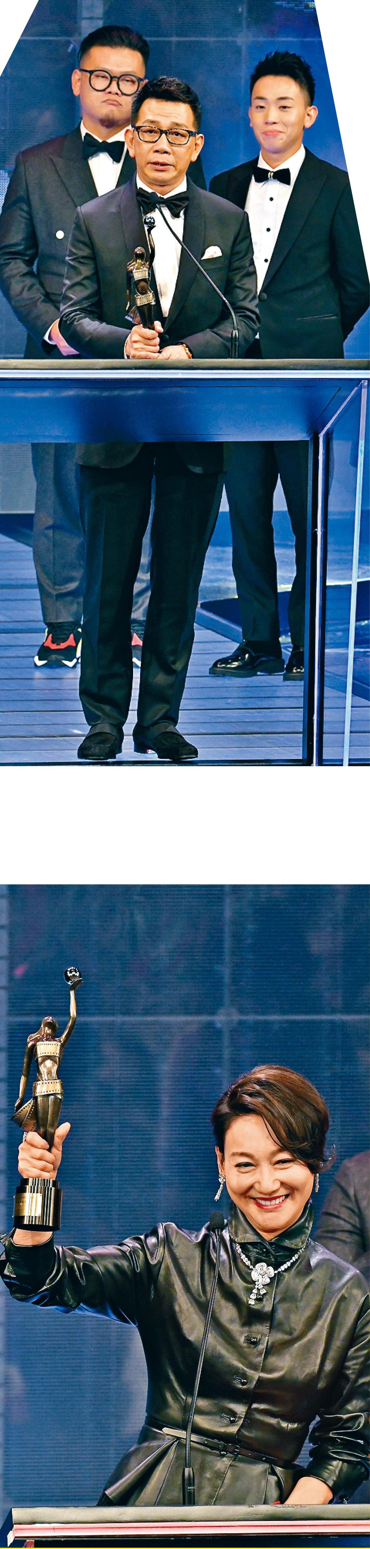■袁富華(上圖)與惠英紅(下圖)雙雙憑《翠絲》,奪得男、女配角獎。
