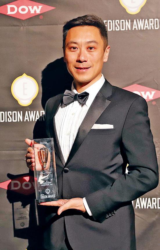 靈動科技創始人兼總裁齊歐代表公司領獎。