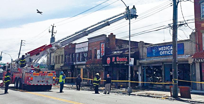 海軍公園的這一間華人餐館昨日上午發生大火,幸好沒有人傷亡。