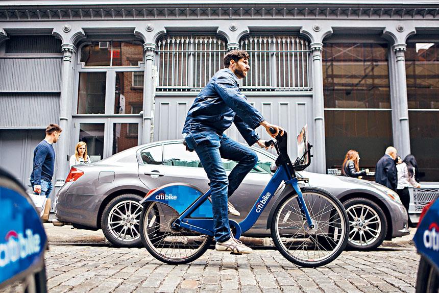 「Citi Bike」去年被Lyft收購後,該公司承諾投資1億元把規模擴大3倍。Gabriela Bhaskar/紐約時報