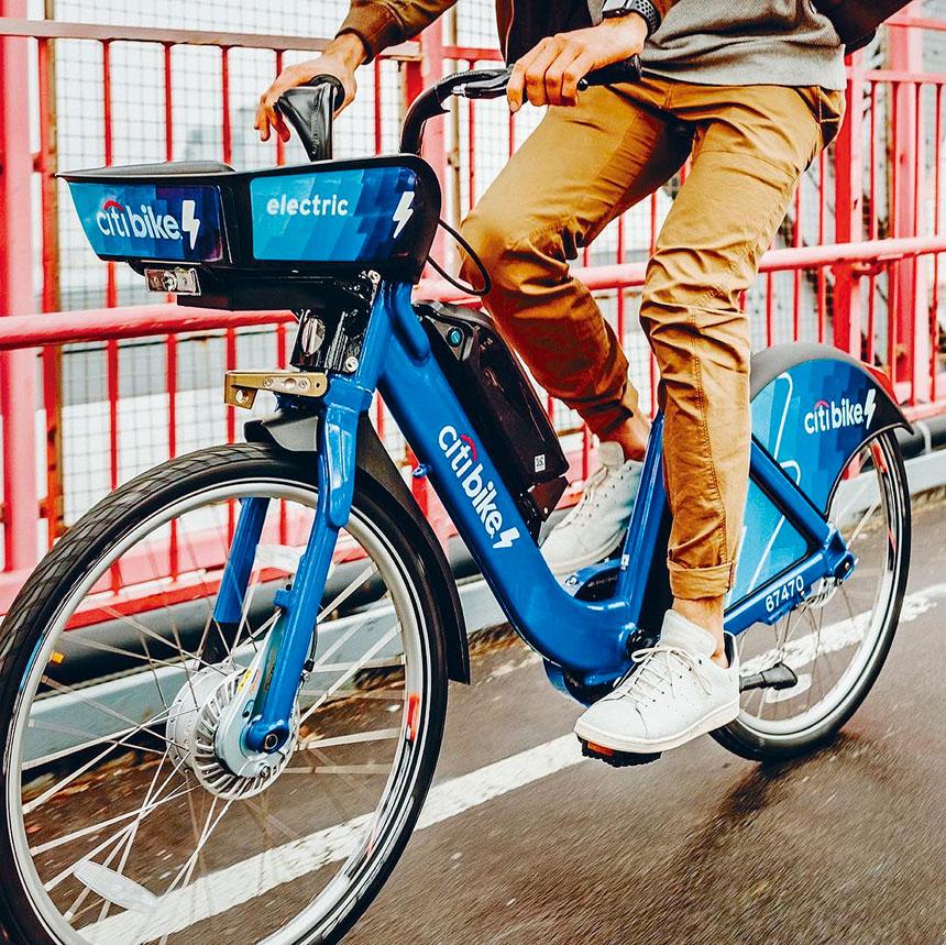 「Citi Bike」原本計劃將在全市推出4000架「助力踏板」電動單車。網上圖片