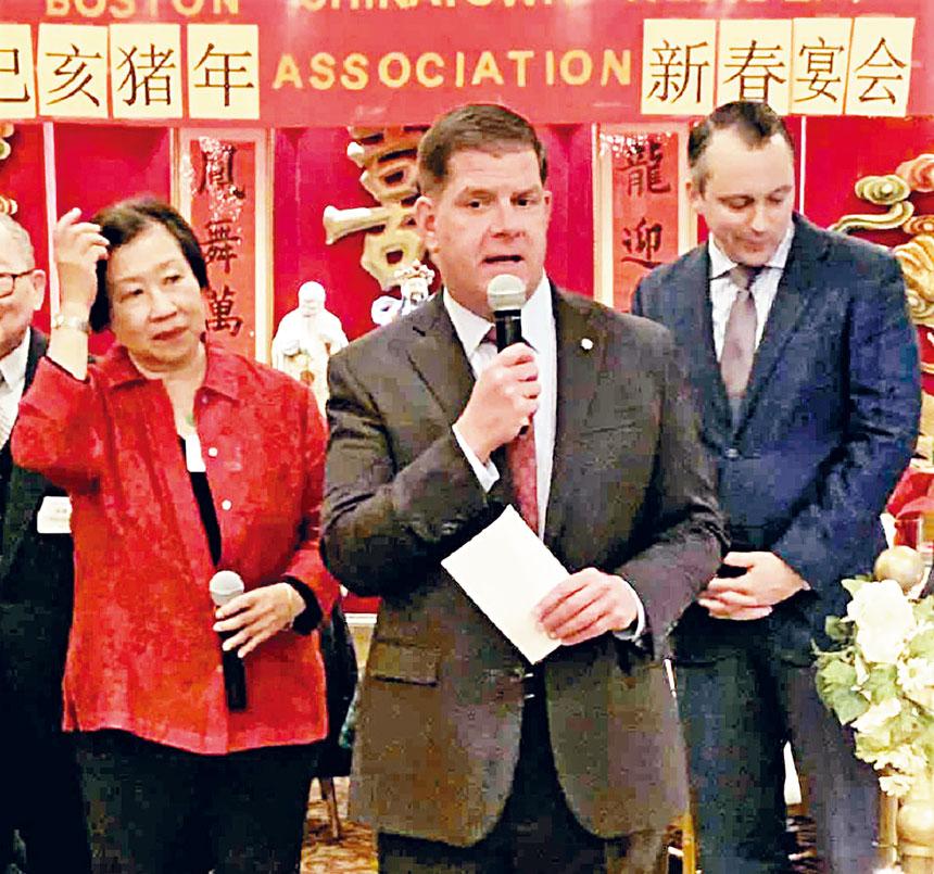 馬丁華殊致詞中讚揚華埠居民會取得的成績。