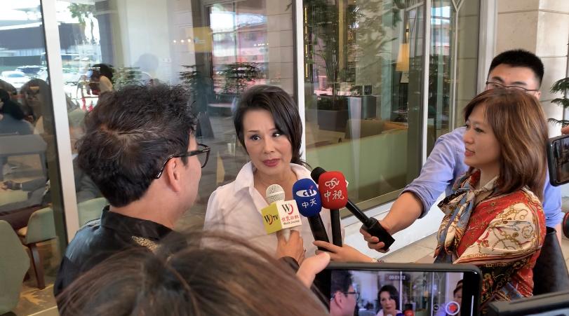 台灣知名藝人張琍敏也到場表示對韓國瑜的支持。記者黃品瑄攝