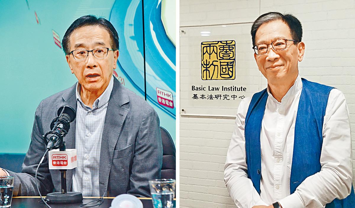 ■田北俊表示,香港須向國家「歸隊」以示團結。右圖為胡漢清。