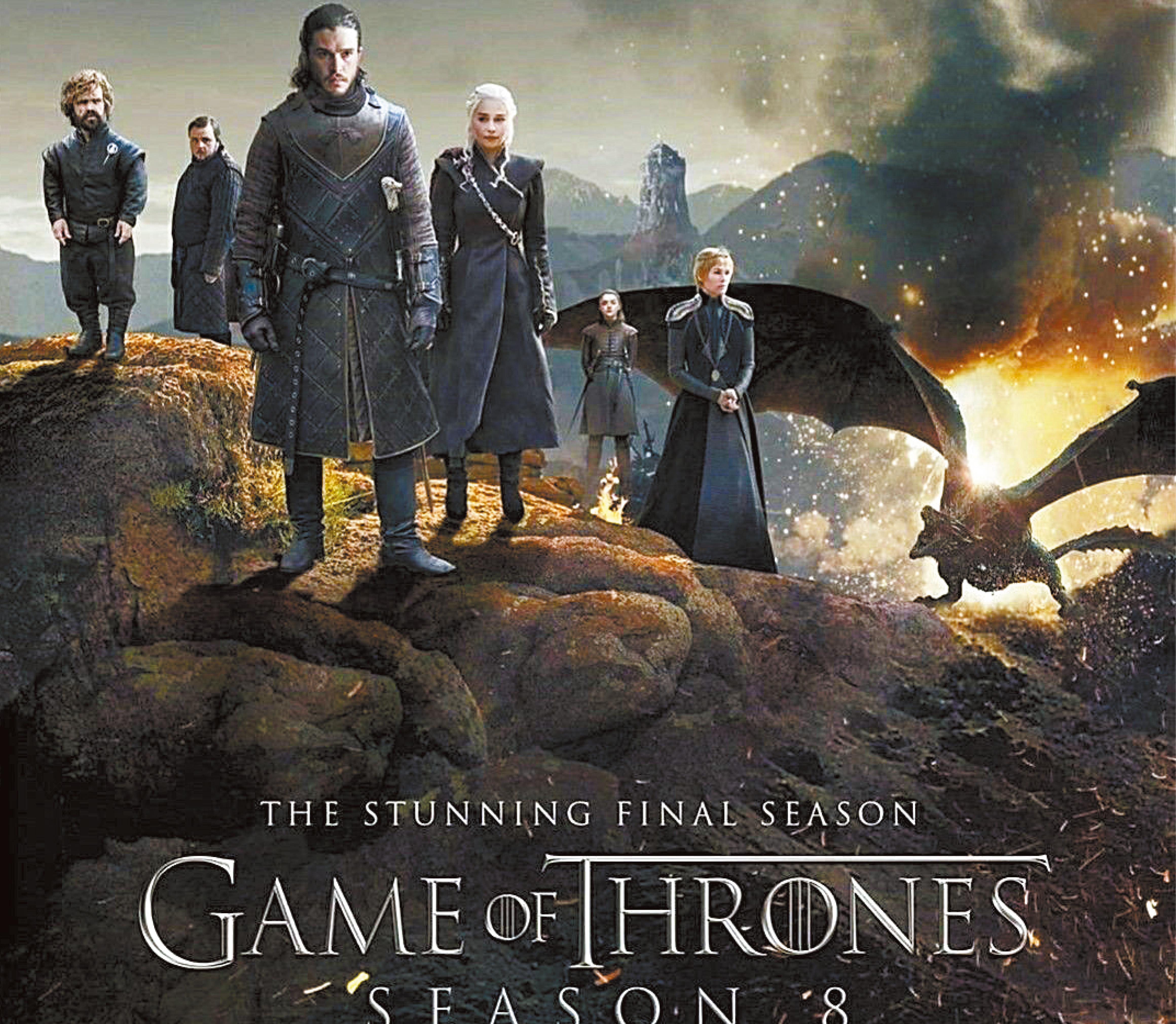 美劇《冰與火之歌:權力的遊戲》大結局延播。圖為該劇海報。網上圖片