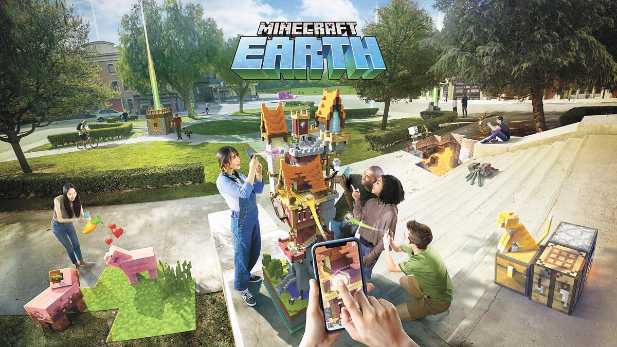微軟擴增實境遊戲Minecraft Earth今夏面世。微軟