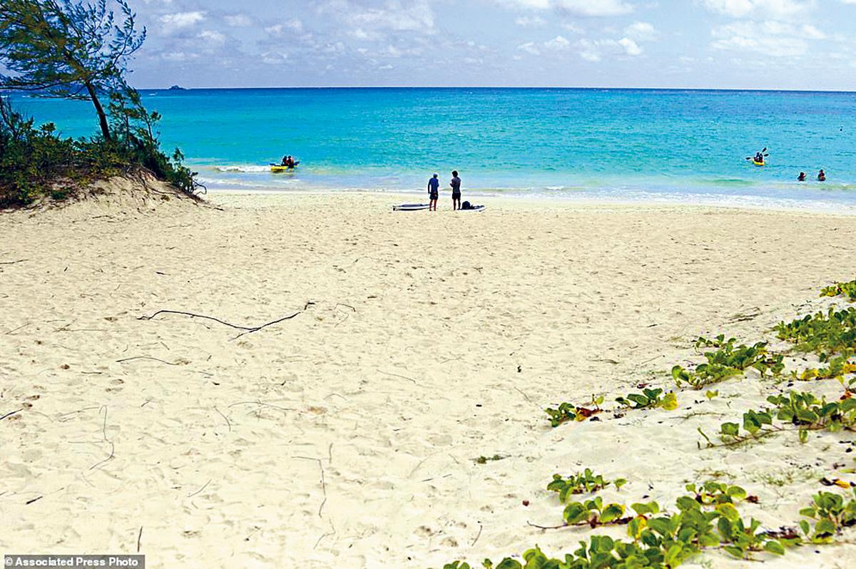 ■夏威夷歐胡島的卡魯亞海灘獲選為全國最佳海灘。美聯社