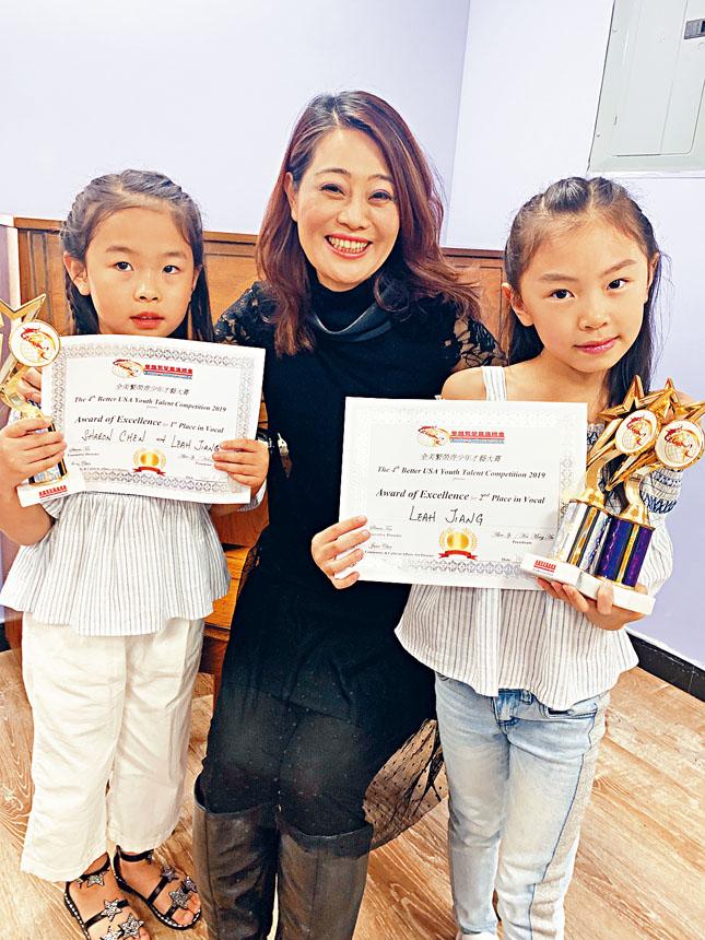 梁瓊尹老師、陳若昕(左)和江麗雅。